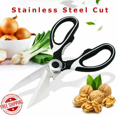 Stainless Steel Kitchen Scissors Multi-function Shears Chicken Poultry (2 pairs)