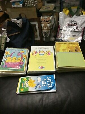 75 Easter Cards, Wholesale Joblot Greeting Cards New