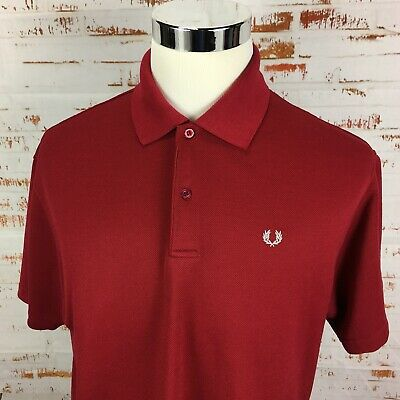 54fe4f7fd FRED PERRY MEN'S Short Sleeve M6000 Solid Pique Polo Shirt Glacier ...