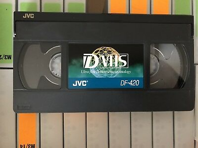 JVC D-VHS DF-420 Digital VHS (quantity 10 tapes) archive tapes recorded once