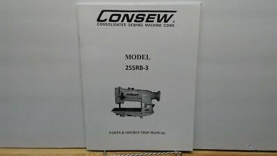Consew 255RB-3 Sewing Machine Operator & Parts Manual