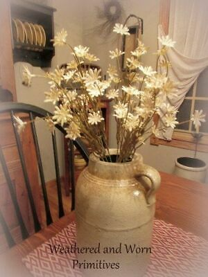 """Primitive Country Cream Colored Flowering Bush 16/"""" Tall"""