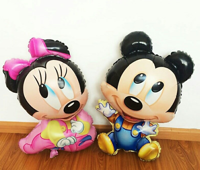 XL Minnie & Mickey Mouse Ballon Folienballon Disney Geburt Boy Girl Baby Party