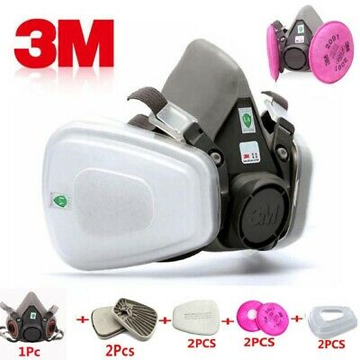 9-In-1 3M 6200 Half Face Paint Spray Gas Mask Respirator With Filter