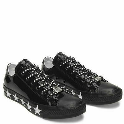 5eadaaad594130 Womens Converse x Miley Cyrus CTAS OX 563720C Low Top Black White Sneakers  New