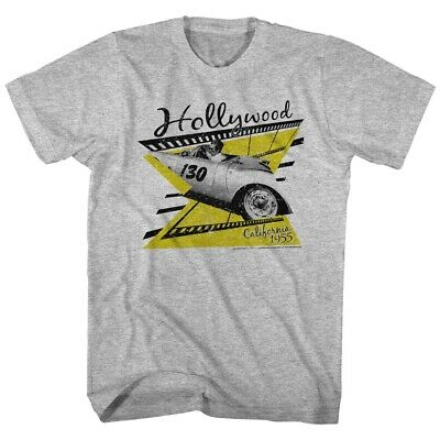 James Dean Cali 55 Tee Gray Retro Adult T-Shirt American Classic All Sizes