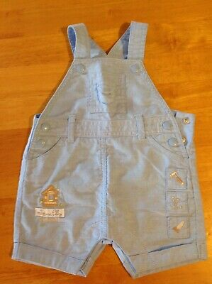 Max And Tilly Baby Boys Blue Overalls Size 0000 Free Post
