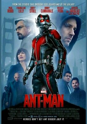"""Marvel ANT-MAN 2015 Original DS 2 Sided 27x40"""" Movie Poster Paul Rudd Double"""