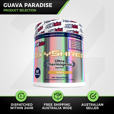 EHP Labs OxyShred | 60 Serve Guava Paradise | Thermogenic Fat Burner | Free Gift