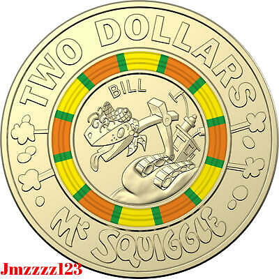 1x $2 Dollars Mr Squiggle Coins 2019 Week 2 Coins! Australian Limited Edition