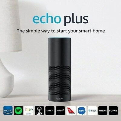 Amazon Echo Plus Assistant - Built-in Smart Home Hub Speaker - Black - RRP $229