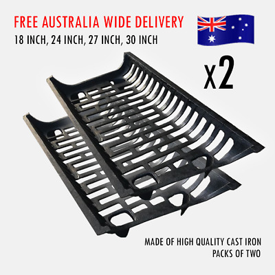 TWO FOR ONE Brand New 2 x Cast Iron Fire Grate Andiron (Factory Price)