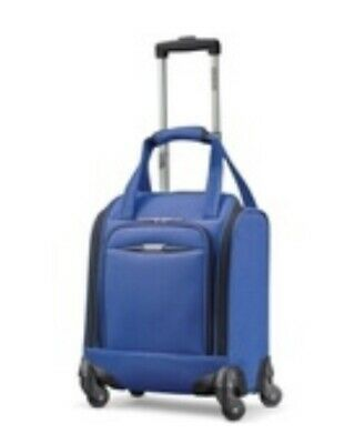 """Anerican Tourister Meridian 16"""" Carry-On Spinner Underseat Tote Luggage Blue"""