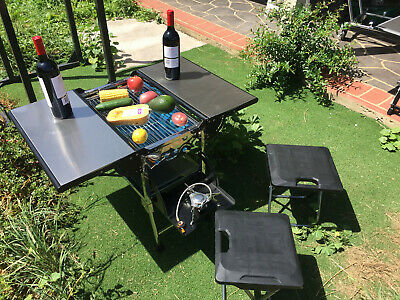 Portable foldable BBQ charcoal grill picnic  ,barbecue gas stove Camping 18s2
