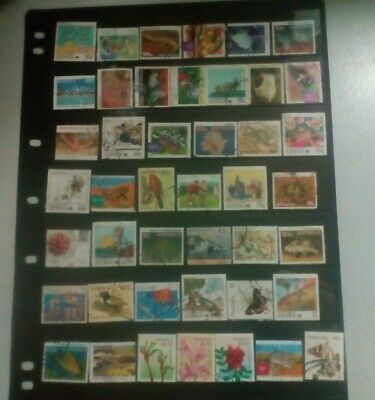 1 page HIGH VALUE definitives, clean & good, see scan, all different.