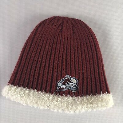 5b8364c1d89 Reebok COLORADO AVALANCHE knit beanie Winter hat ski Hat cap TOQUE NHL  Acrylic