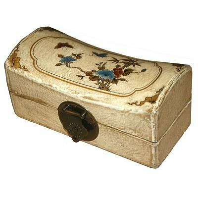 Oriental Jewellery Box - White Painted Pillow Shape (PS-S0W-BF)