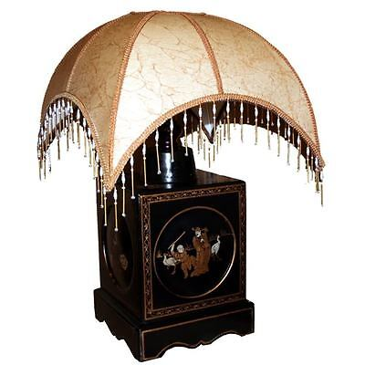Black Classical Chinese Decoration Table Lamp New (LP-BSQ)