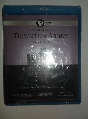 Downton Abbey: Season 2 (Blu-ray Disc, 2012, 3-Disc Set) Limited Ed. BRAND NEW