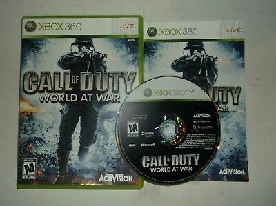 Call of Duty: World at War (Microsoft Xbox 360, 2008) COMPLETE w/ Manual