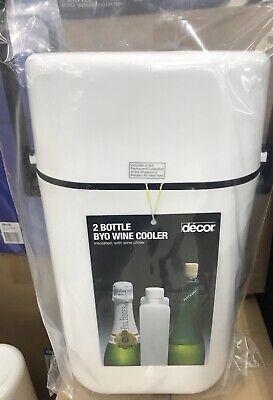 New, Decor Retro Twin Bottle Wine Cooler, White, Free Postage, Excellent Quality