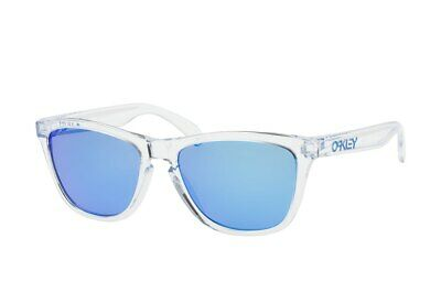 8853587e01 Oakley Frogskins Sunglasses OO9013-D0 Crystal Clear Frame W  PRIZM Sapphire  Lens