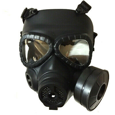 CS Edition Gas Mask Single Filter Fan  Perspiration Dust Eye Protect Face Guard