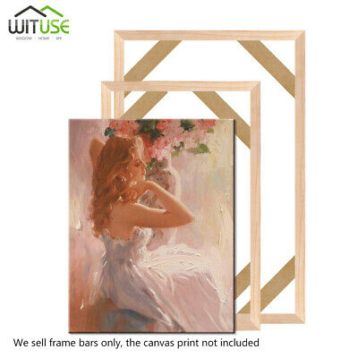 Photo Wood Canvas Stretcher Bars Strips Frames For Painting DIY Multiple Sizes