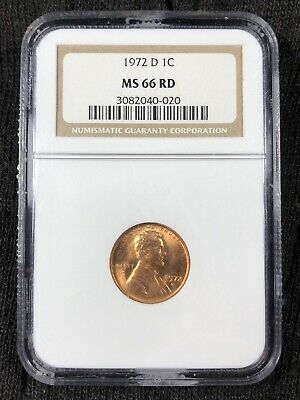 1972 D Ngc Ms66Rd Red Lincoln Memorial Cent **Make An Offer**