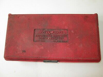 vintage snap on ratcheting screwdriver box case  pb 55