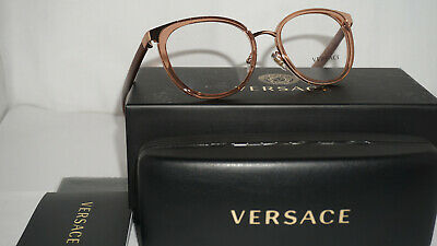 d54368c4b4 AUTHENTIC VERSACE EYEGLASSES VE1249 1252 Black Gold Frames 52mm Rx ...