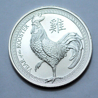2017 1 OZ .999 FINE SILVER ROUND YEAR OF THE ROOSTER COIN ,Bullion !