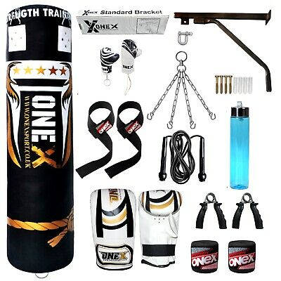 punch bag 5ft heavy filled kick boxing bags Martial Arts training set MMA fitnes