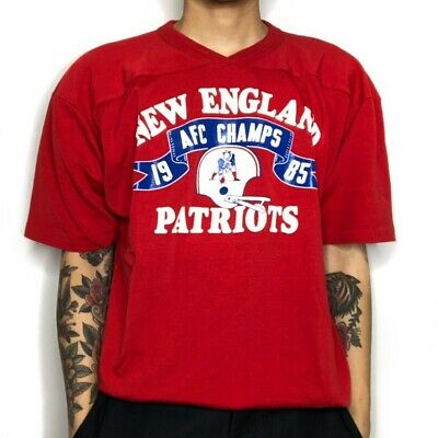 Vintage 1985 New England Patriots AFC Champs Champion Single Stitched T- Shirt 57f214dc4