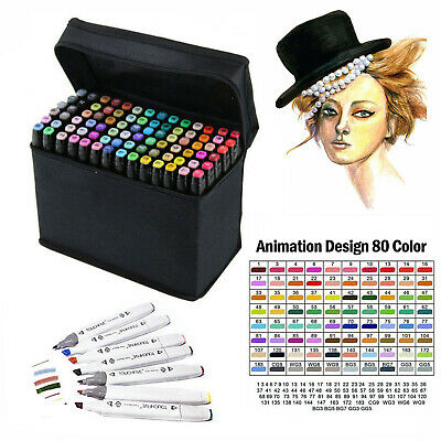 Marker Pen 80/40 Color Set Graphic Art Sketch Twin Point Broad Point Copic Touch