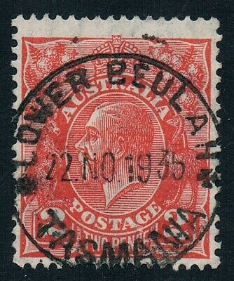 TASMANIA • 1935 • LOWER BEULAH CDS on 2d red KGV