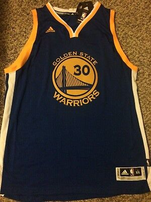 Steph Curry Nba Adidas Golden State Warriors Swingman Royal Jersey  Authentic 2Xl 56d339f9f