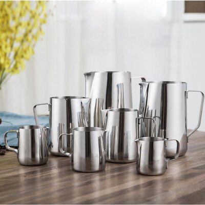 UK Stainless Steel Milk Craft Coffee Latte Frothing Art Jug Pitcher Mug Cup AS