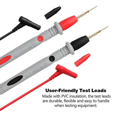 20A 1000V Needle Tipped Tip Multimeter Probes Test Leads Wire Cable Copper