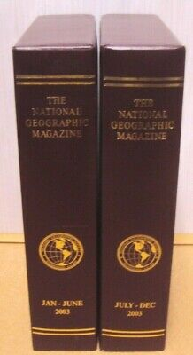 Lot 2 (1 yr) National Geographic Magazine EMPTY Slip Cover/Case/Holder 2003