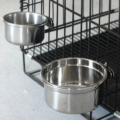 Bird Feeders Parrot Stainless Steel Cups Food Bowl Bird Cage Cup For Parrot