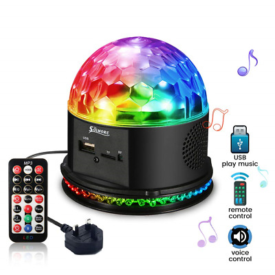 Disco Lights Ball SOLMORE 48 LEDs Stage Party Lighting RGB Crystal Magic for...