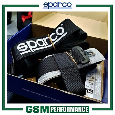 Sparco 4 Point Bolt In Harness - Black