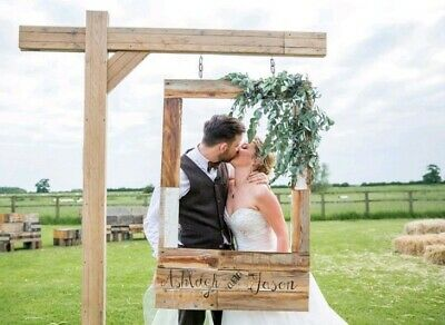 LARGE HANGING WEDDING Instagram photo booth frame with stand outdoor or  indoor
