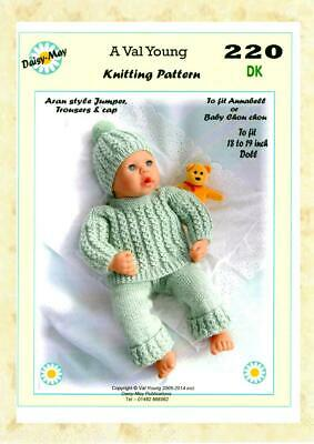 1 DOLLS KNITTING PATTERN by Val Young 4 ANNABELL *227* to fit 16 to 18 inch doll