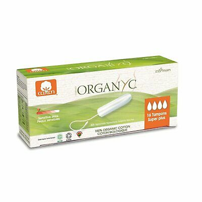 Organyc – Tampon Super Plus sans Applicateur Organyc, 16ud