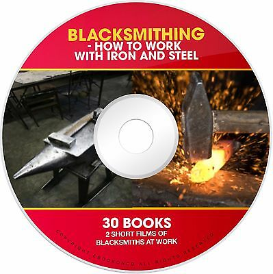 Learn Blacksmith Anvil Forge Steel Iron Welding Blacksmithing PDF books on CD