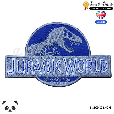 Jurassic World Movie Video Game Embroidered Iron On Sew On PatchBadge