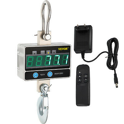 Digital Crane Scale 1000 KG / 2000 LBS Heavy Duty Industrial Hanging Scale