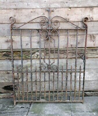 Beautiful Antique Wrought Iron Gate Pedestrian Handcrafted Decorative Garden#G31